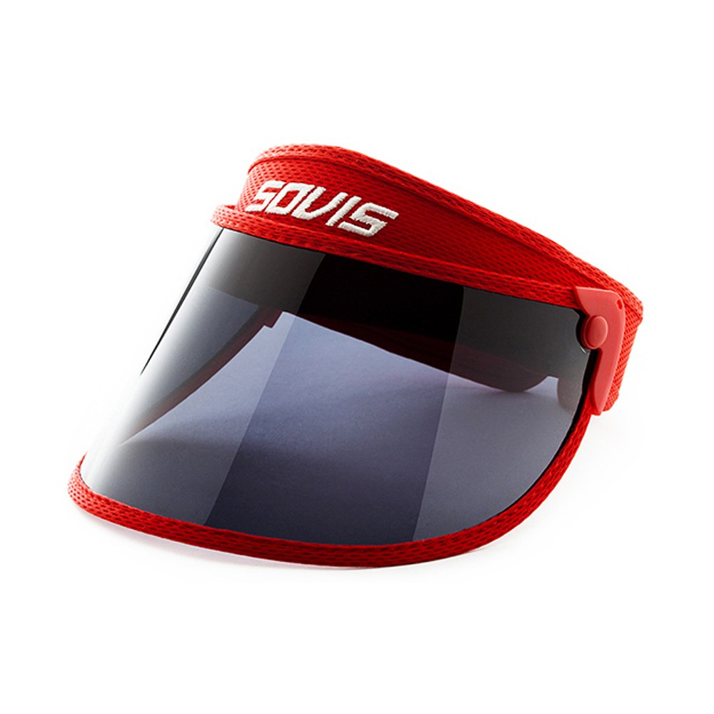 Sovis Kids sized RED - Over 97% UVA&B Facial Protection Solar Visor Worldwide Patented