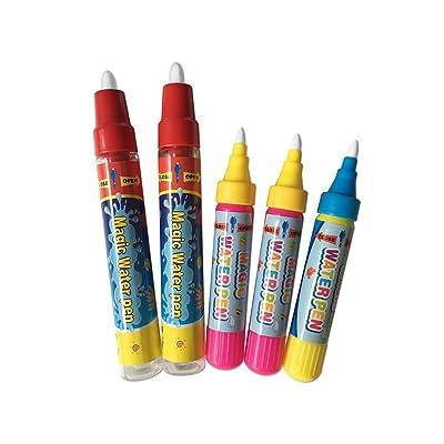 5PCS Plumas de pintura del Doodle de agua de repuesto,Dibujo Doodle Magic Pens para Doodle mat, Magic mat: Juguetes y juegos