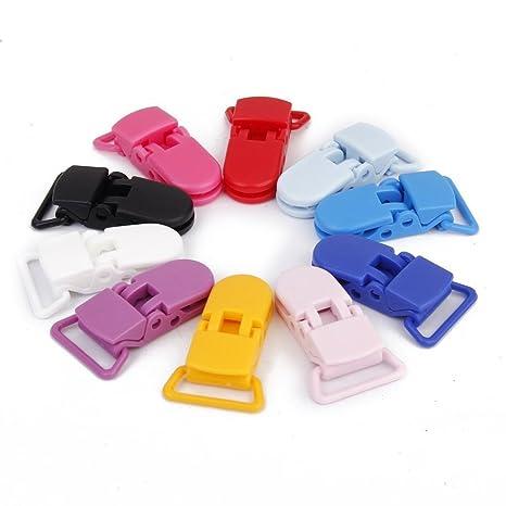 Yardwe - Clips para chupete de bebé (10 unidades, plástico ...