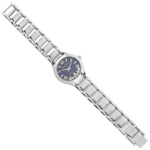 Reloj joya Ottaviani Mujer Solo Tiempo de metal con fondo azul: Amazon.es: Relojes