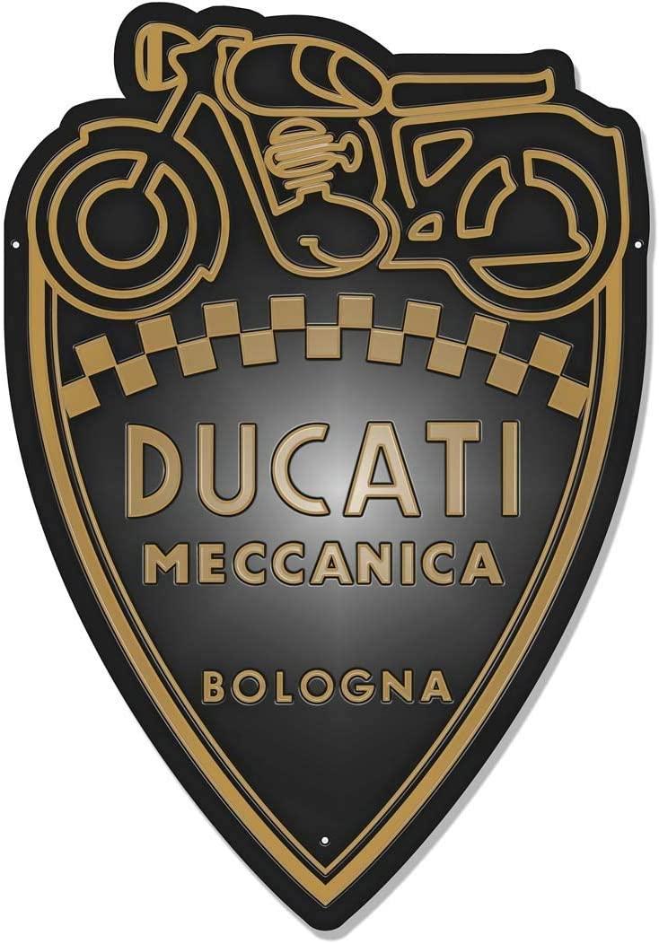 Targa Ducati Targa in Metallo retr/ò Bar Bar Garage Piatto Decorativo Moto Latta Pittura Auto Wall Art Sticker 20x30cm Q