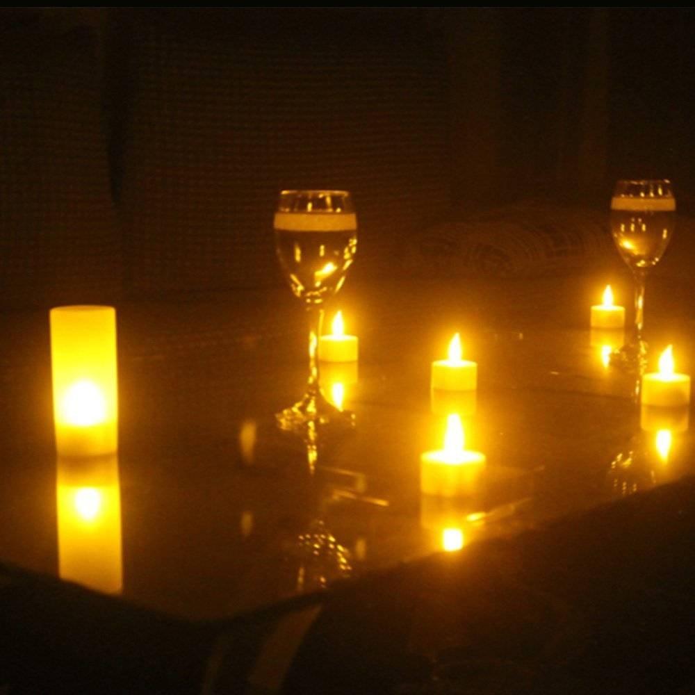 Wiederaufladbare Kerzen Teelicht, Ein Set von 12 LED Flammenloses Teelicht Teelicht Teelicht Mit Ladestation, Für Festivals Hochzeiten Party Romantisches Bekenntnis Weihnachtsgeburtstag Dekoration (Mit Fernbedienung) 5aa89e