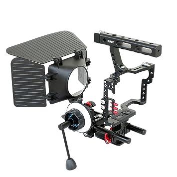 Filmcity DSLM Kit de jaula de cámara sin espejo caja mate Follow ...