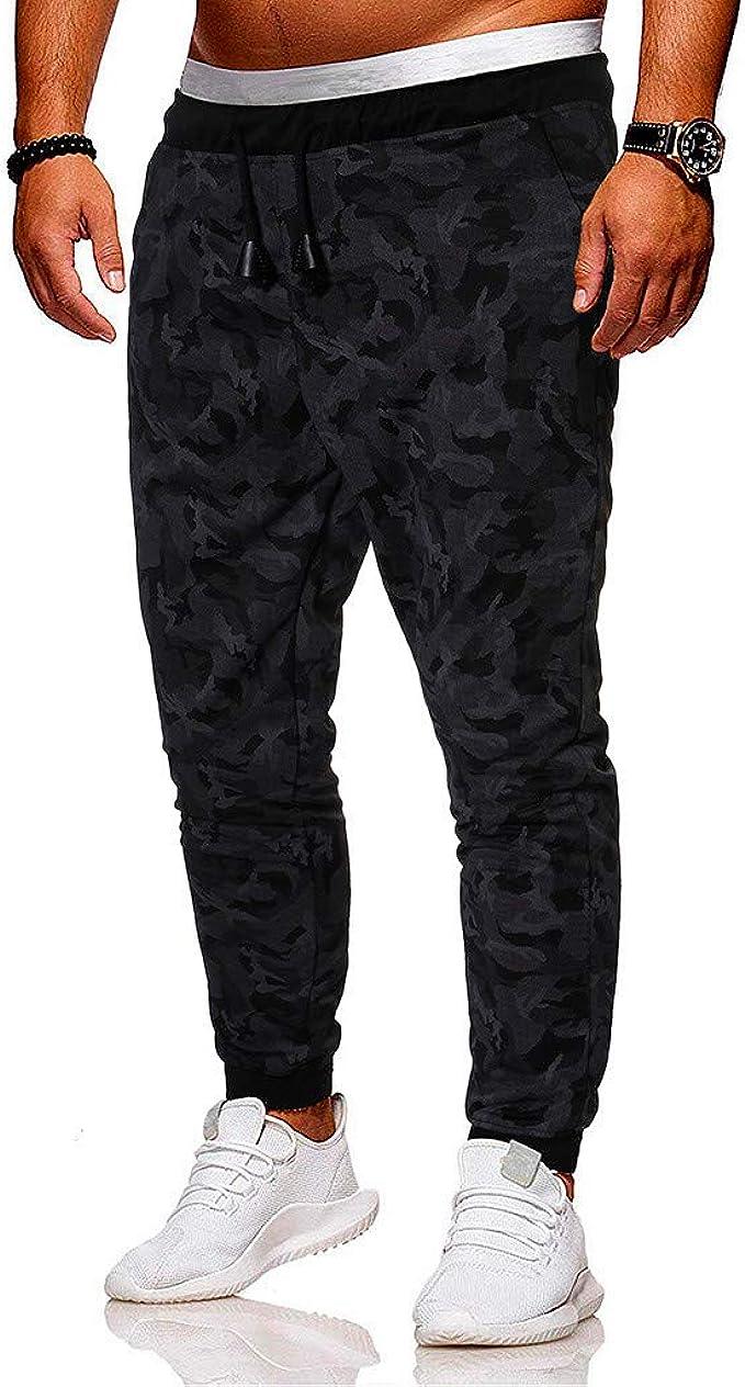 Elastic Waist Tracksuit Pants for Men Huazi2 Summer Slim Fit Sport Trousers