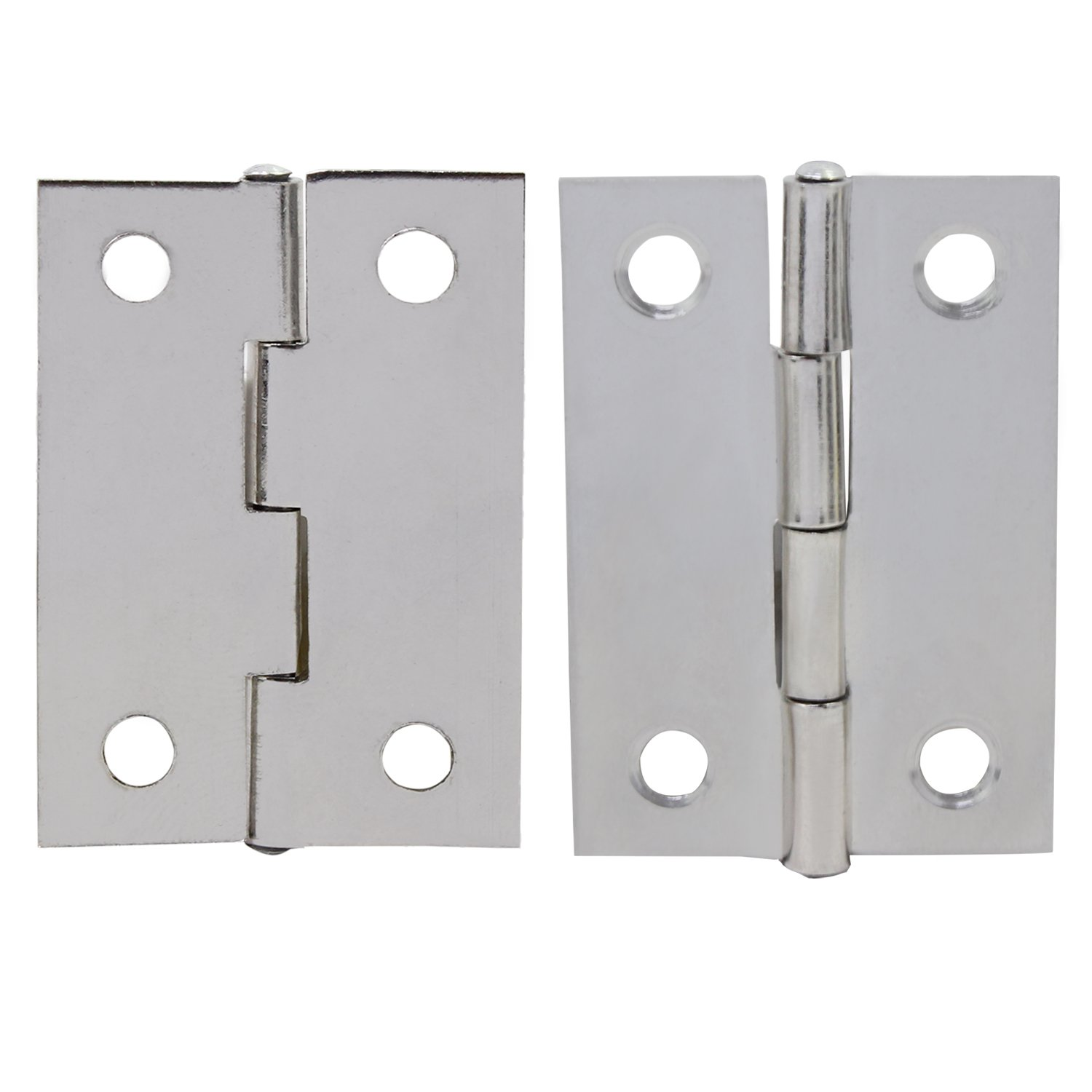 OCR 30PCS 2Inch Folding Butt Hinges Stainless Steel Home Furniture Hardware Cabinet Hinges with 120PCS Screws(2inch 30pcs) by OCR (Image #4)