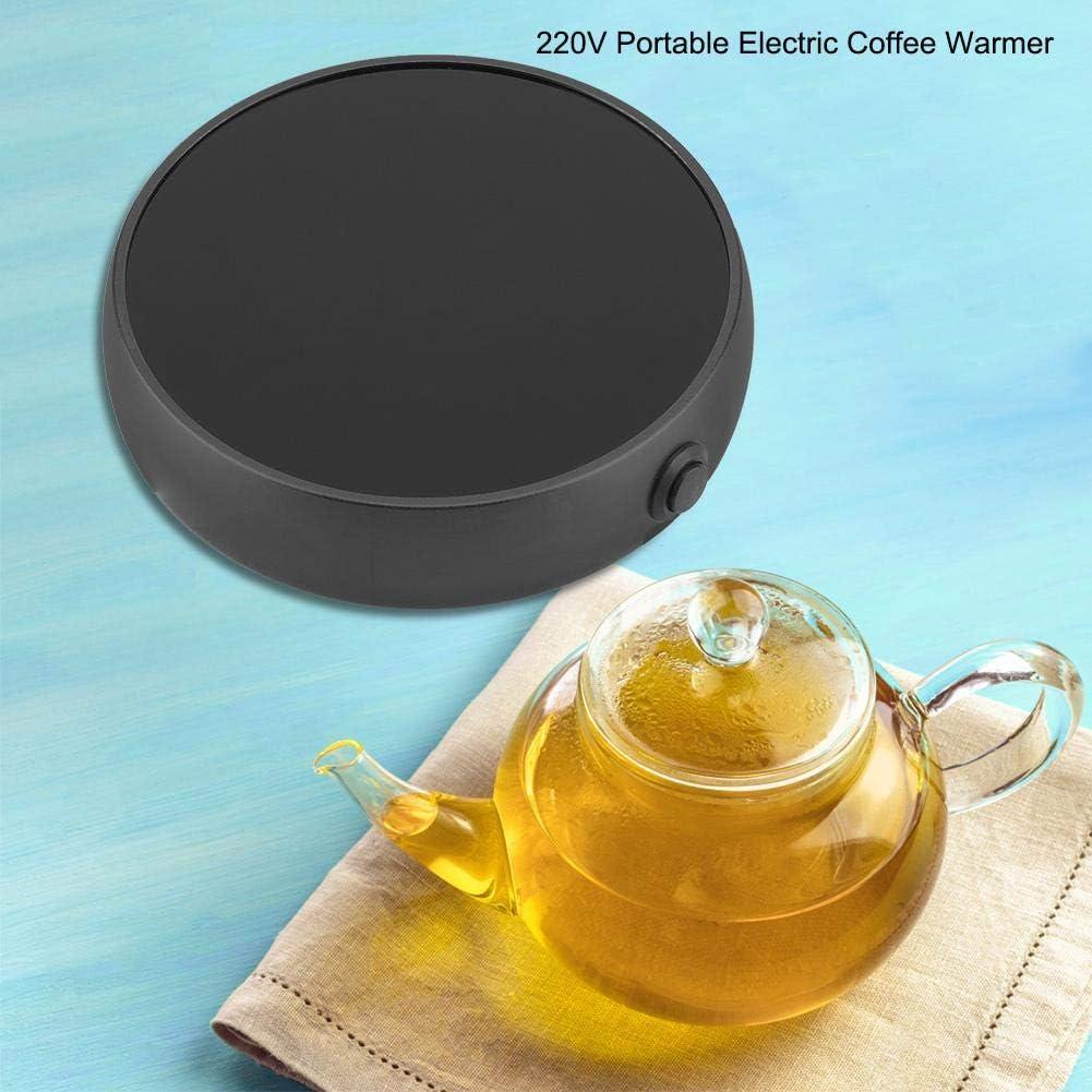 Port/átil Calentador de Bebidas de Escritorio Calentador el/éctrico de la Taza de la Temperatura Constante para el Uso de la Oficina Black Calentador de Taza de caf/é