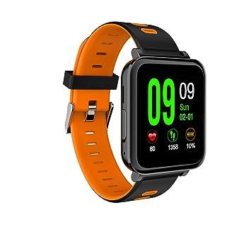 D10 reloj inteligente de música Bluetooth SmartWatch podómetro Heart Rate Monitor de sueño deporte reloj de pulsera notificación Sync para IOS Android, ...