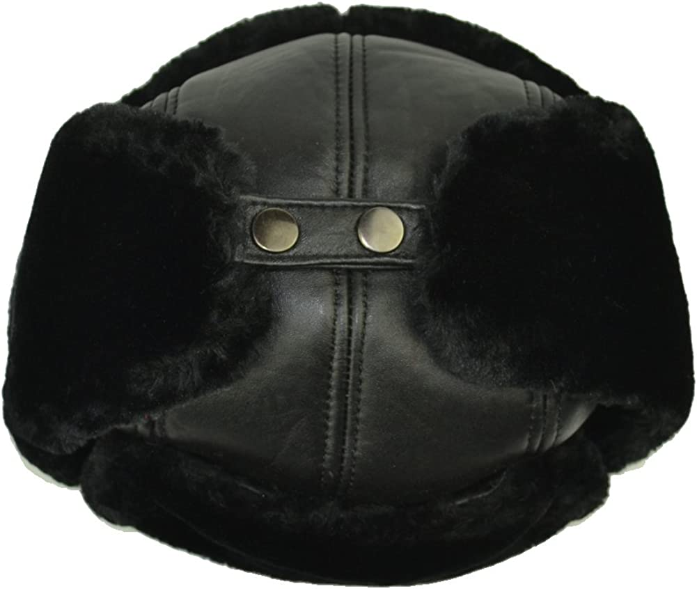 Sandy Ting Trapper Trooper Leather Windproof Warm Ear Flaps Hat Caps