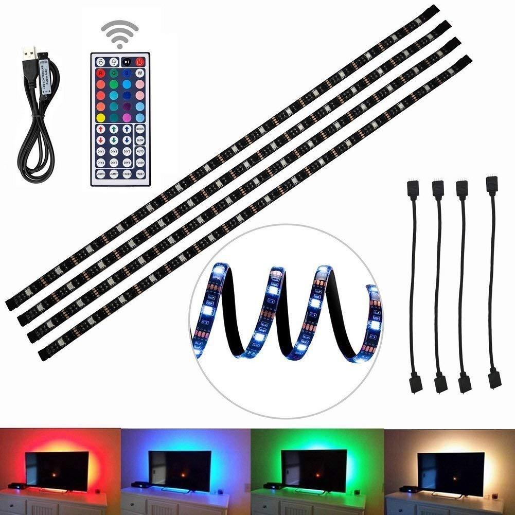 Striscia Di Luce In Illuminazione LED TV Sfondo RGB Strisce Alimentate A Batteria Con Clip Remote 1M 5M Esterno Luci D'animo Soffitto Interno