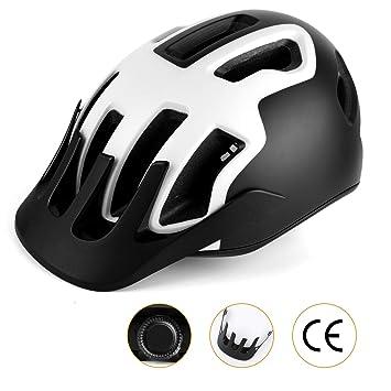 Shinmax Casco de Ciclo, Certificado CE, Casco de Bicicleta Ajustable con luz de Seguridad