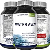 Water Away Supplement Diuretic Pills for Men & Women - Reduce Water Retention Natural Dandelion Leaf Pure Green Tea Juniper Berry Vitamin B-6 for Water Balance and Bloating Relief