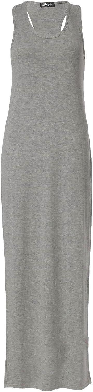 vestito maxi per un retro muscoloso Fast Fashion vestito smanicato da donna di livello