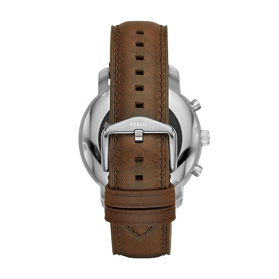 Fossil Reloj Hombre de Digital con Correa en Cuero FTW4003: Amazon.es: Relojes