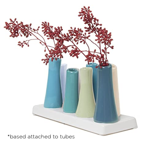 Amazon.com : Chive - Pooley 2, Unique Rectangle Ceramic Flower Vase on