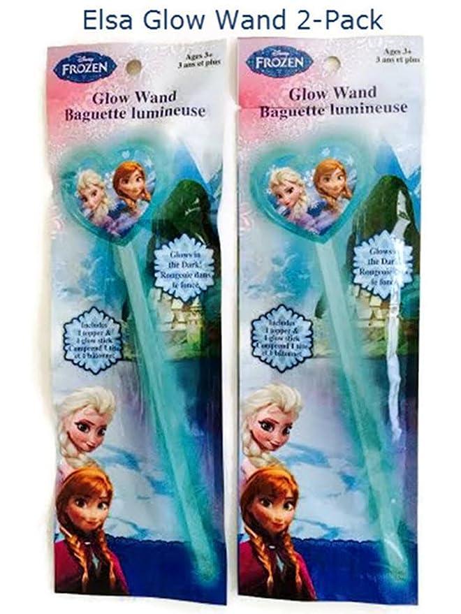 Amazon.com: Disney Frozen Princess Elsa Glow varita 2-Pack ...