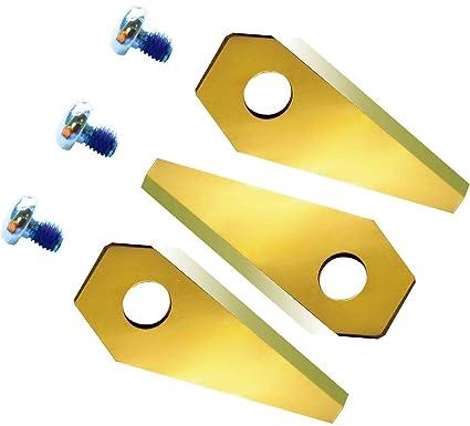 12 cuchillo extraduras de repuesto para Bosch INDEGO de titanio carburo revestido de 2