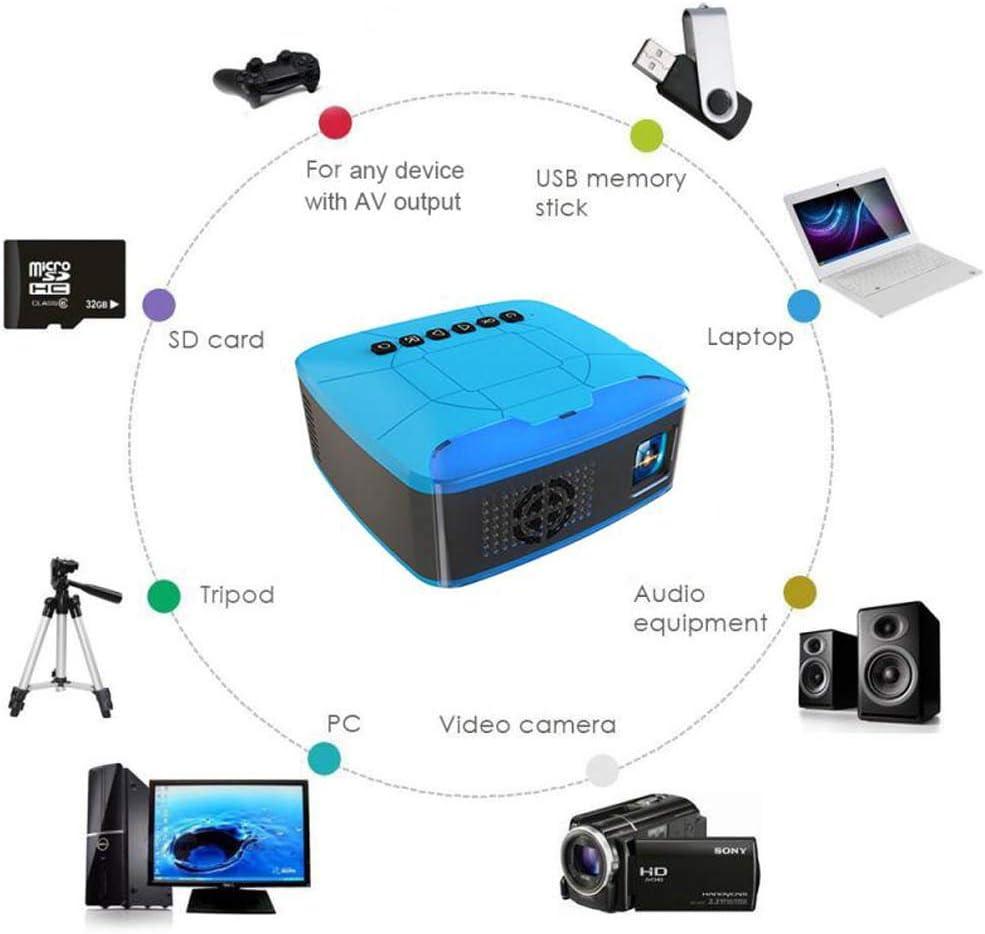 FLOR FALSA Proyector Cine Casa LCD Full HD Proyector Portátil LED ...