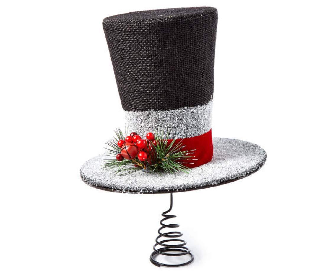 Merry Moments Winter Wonder Lane Snowman Hat Christmas Tree Topper Big Lots