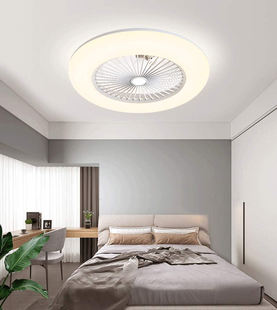 Ventilador De Techo Con IluminacióN Ventilador De Techo Led Luz Velocidad Del Viento Ajustable Control Remoto,Ultra Silencioso Ventilador Luces De Ventilador De Dormitorio,40W Blanco