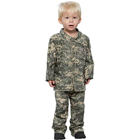 childs toddler little soldier halloween costume size