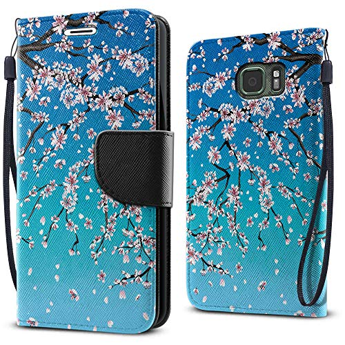 FINCIBO Case Compatible with Samsung Galaxy S7 Active G891, Fashionable Flap Wallet Pouch Cover Case + Card Holder Kickstand for Galaxy S7 Active (NOT FIT S7, S7 Edge) - Falling ()