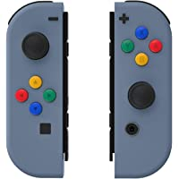 eXtremeRate Soft Touch Slate Gray Joycon Handheld Controller Housing with ABXY Direction Buttons, DIY Replacement Shell…