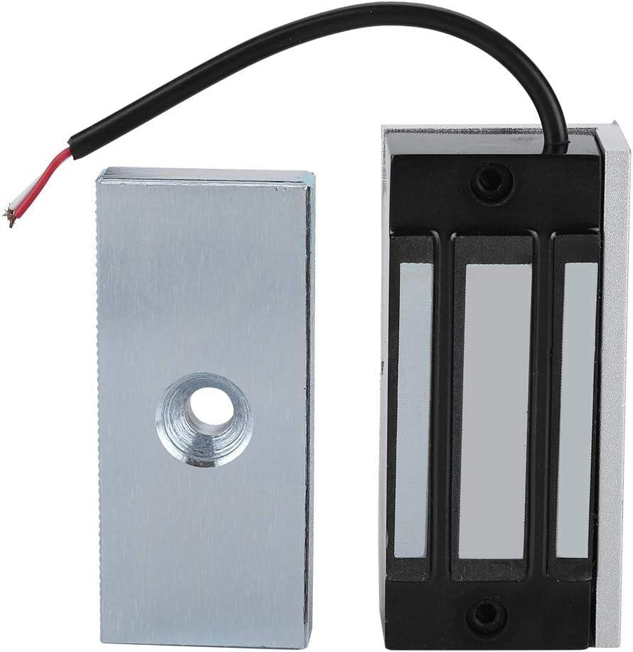 Cerradura magnética eléctrica, Dc12v 60kg Mini cerradura electromagnética Adecuado para puertas de madera, puertas de vidrio, puertas de metal, puertas cortafuegos.