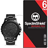 Spectre Shield (6 Pack) Screen Protector for Fossil Hybrid Smartwatch Q Nate Accessory Fossil Hybrid Smartwatch Q Nate Screen Protector Case Friendly Full Coverage Clear Film