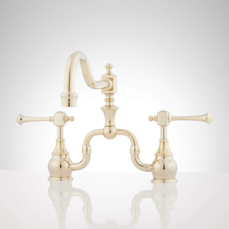 Signature Hardware 346706 Vintage 1.8 GPM Bridge Kitchen Faucet