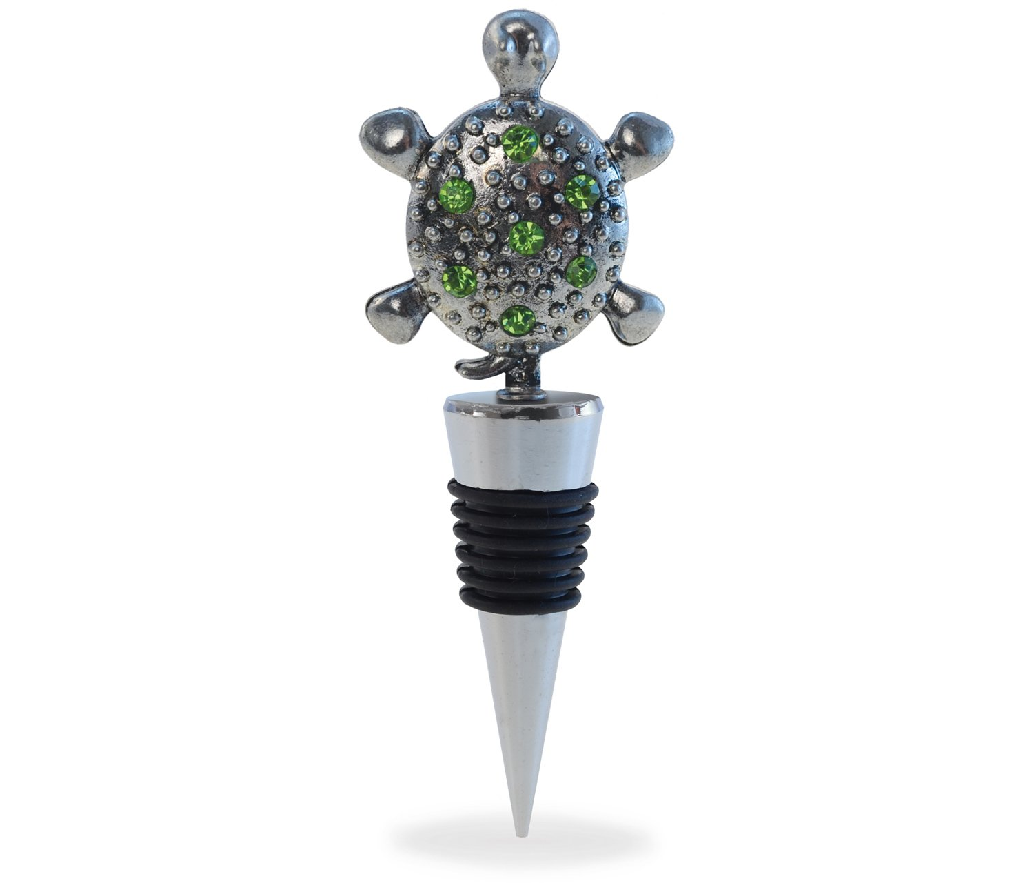 Puzzled Sea Turtle Cheers Metal Wine Stopper