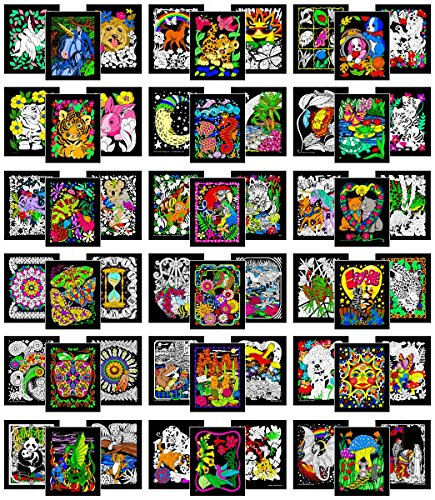 (Stuff2Color Colossal Pack of 54 Fuzzy Velvet Coloring Posters (All Unique)