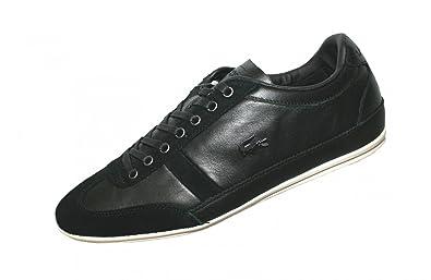 Misano 33 SRM 729SRM2120024 Schwarz Leder Sneaker, Größe:39.5, Farbe:Schwarz Lacoste