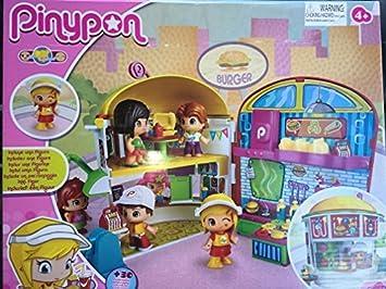 Pinypon Playset Burger Di burger Pinypon con 1 Figura Gioco Bambina bambino,