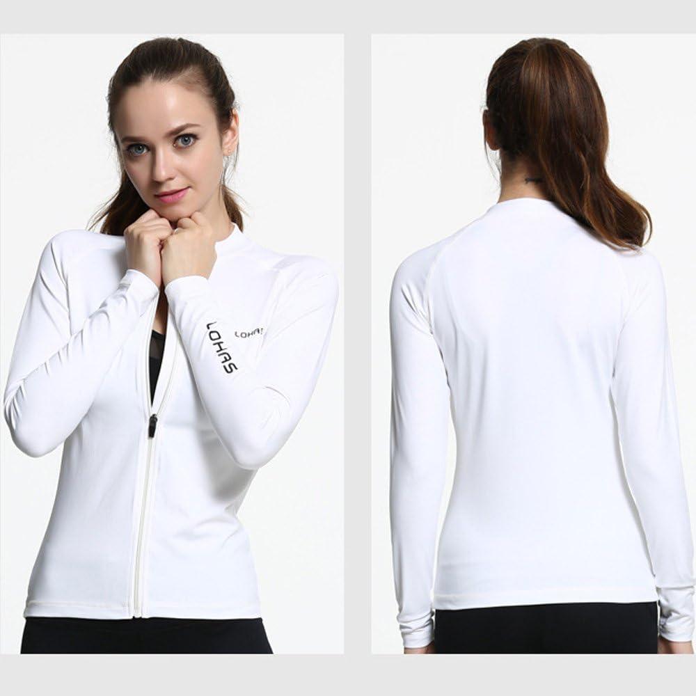 Beauty/_yoyo Women Slim Sport Jacket Stretchable Full Zip-Up Activewear Workout Coat