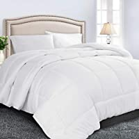 TIBOON All Season Soft Down Alternative Quilted Comforter with Corner Tabs Reversible Duvet Insert or Stand-Alone Comforter Microfiber Fill Warm Fluffy Hypoallergenic