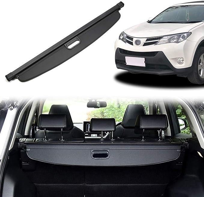 Orealtool Laderaumabdeckung Kofferraum Schutz Abdeckung Cargo Cover Für Toyota Rav4 2019 Schwarz Ausziehbar Kofferraumabdeckung Rollo Auto