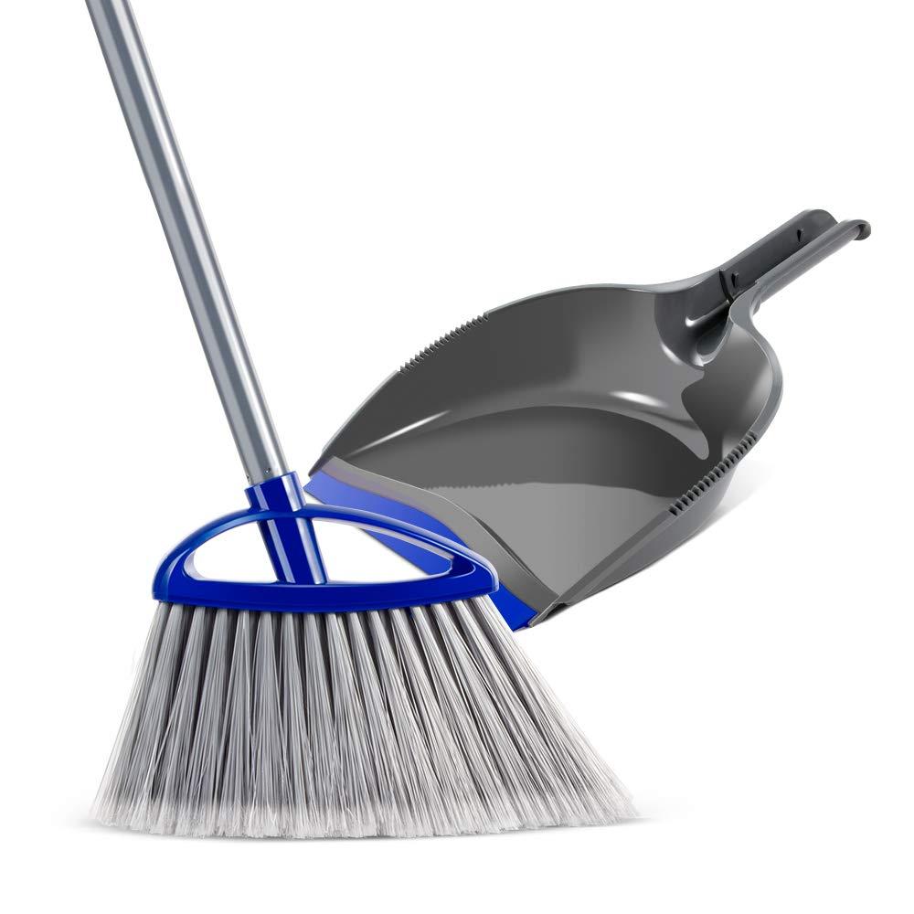 Mastertop Easy Angle Bristles Broom and Handhold Dustpan Set Handhold Dustpan for Floor Sweep Set by Mastertop