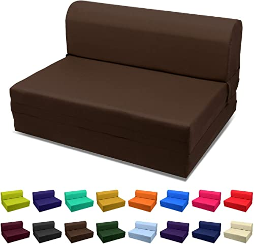 Magshion Futon Furniture Sleeper Chair Folding Foam Bed Choose Color Sized Single,Twin or Full Full 5x46x74 Review