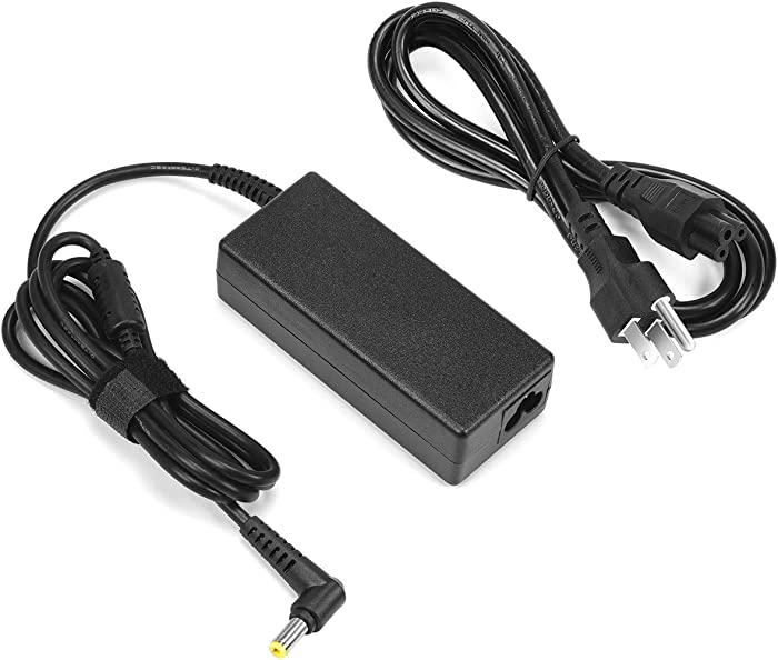 19V 3.42A 65W AC Adapter Charger for Acer Aspire 5 E15 E5-575 5251-1513 ES1-512 A515-51 A114 A315 F5 5733 5336 5534 5742 5755 7741Z 7551 E1 M5 R7 V3 V5 ONE 725 PA-1700-02 Yellow Tip Power Adapter Cord