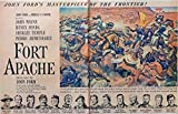 Fort Apache, Original Movie advertisment 40's Print ad. Two Full Pages Color Illustration [two pages](John Ford movie--John Wayne, Henry Fonda, Shirley Temple, Pedro Armendariz, Ward Bond) Original Vintage 1948 Life Magazine Print Art