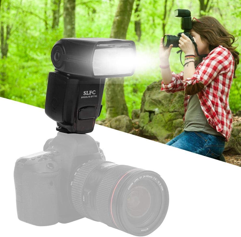 Garsentx Flash Speedlite est/ándar para c/ámaras Digitales Canon//Nikon//Pentax//Olympus Pantalla LCD Flash Strobe Light para c/ámara