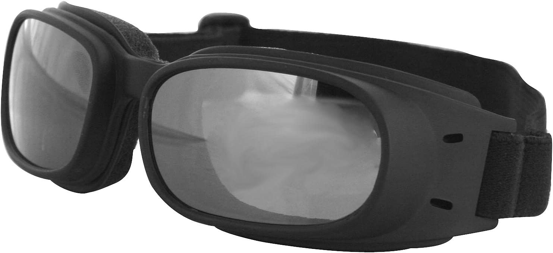 Bobster Eyewear Reflective Piston Goggles , Distinct Name Black Smoke Lens, Gender Mens Unisex, Primary Color Black BPIS01R