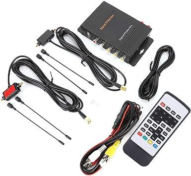 KIMISS Caja de sintonizador de TV, Receptor de TV Digital Potente y Funcional DVB-T MPEG-4 Caja de sintonizador de Antena Dual Accesorio para ...