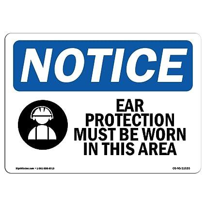Letrero de Osha - la protección de los oídos debe ser ...
