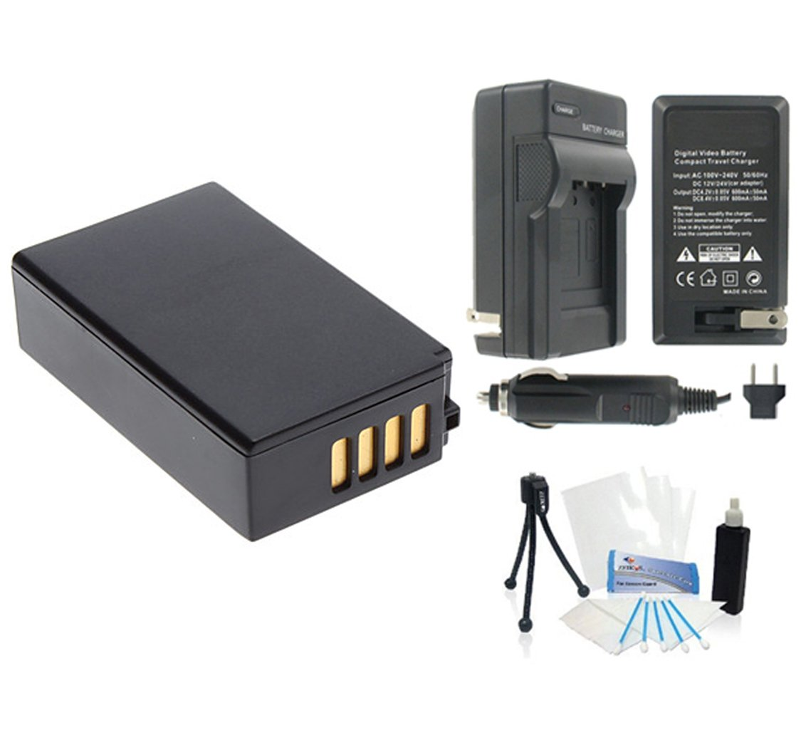 EN-EL20 / EN-EL20a High-Capacity Replacement Battery with Rapid Travel Charger for Select Nikon Digital Cameras. UltraPro Bundle Includes: Deluxe Cleaning Kit, LCD Screen Protector, Mini Travel Tripod