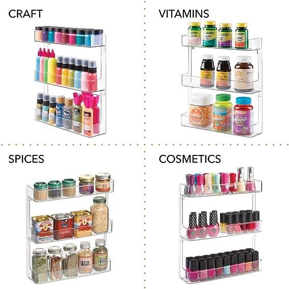 compl/éments alimentaires et pour les vitamines transparent mDesign bo/îte de rangement bo/îte /à pharmacie en plastique robuste avec 3 niveaux bo/îte m/édicament pour m/édicaments