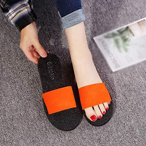 Plage Sandales Chaussures Pantoufles Diapositives Plat Femmes D'été Maison Bain Orange Tongs Salle De PxnzUFpw