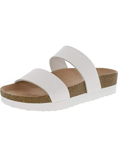 26cd799f69e8b Amazon.com | Steve Madden Women's Radford White Sandal - 7M | Sandals