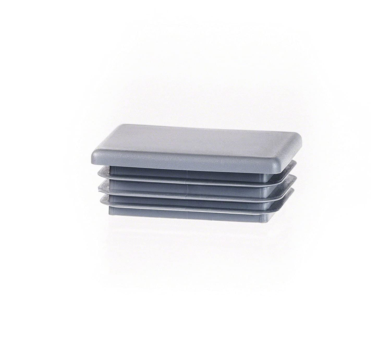 5 piezas tapó n para tubo rectangular 80x40 gris plá stico tapa de extremo tapas EMFA rectangle tubing cap
