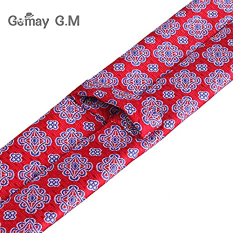 d887536274bc Amazon.com : Graven Ties for Men Fashion Jacquard Woven Classic Mans Necktie  for Wedding 6cm Width Slim Groom Neck Tie Red Striped Tie - (Color:  LD21207) ...